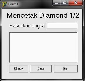 Contoh Program Sederhana Membuat Diamond Pada Delphi