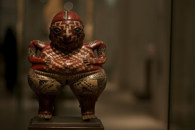 Estatua de chipicuaro, Museo del Louvre, París, Francia