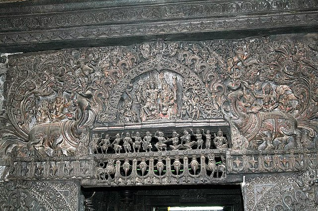 Makara above the door of the to Garbhagriha of Chennakesava Temple at Belur
