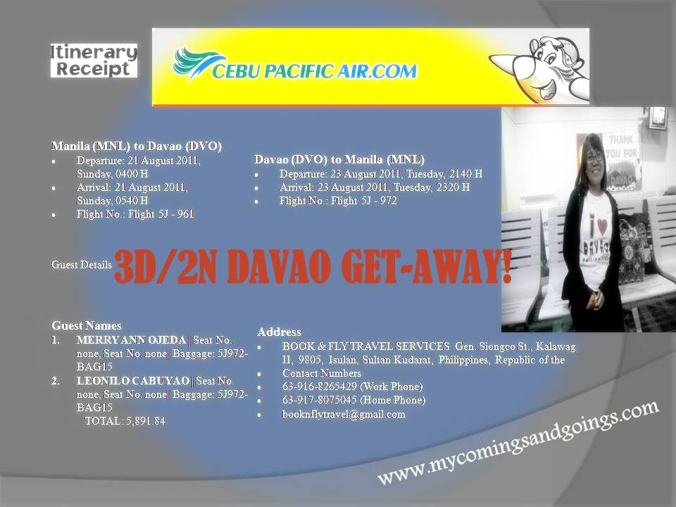 Davao Tour Packages Itinerary In Spanish