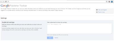 Google publisher toolbar, Google Chrome