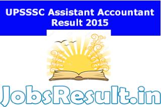 UPSSSC Assistant Accountant Result 2015