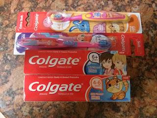 Some of the Colgate Kids range