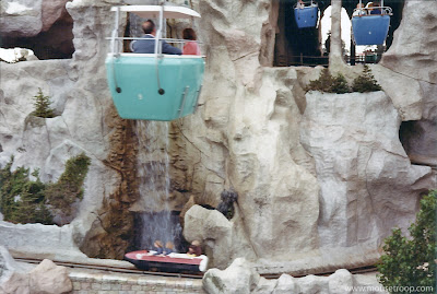 Matterhorn Bobsled Skyway Disneyland 1970's original bobsleds
