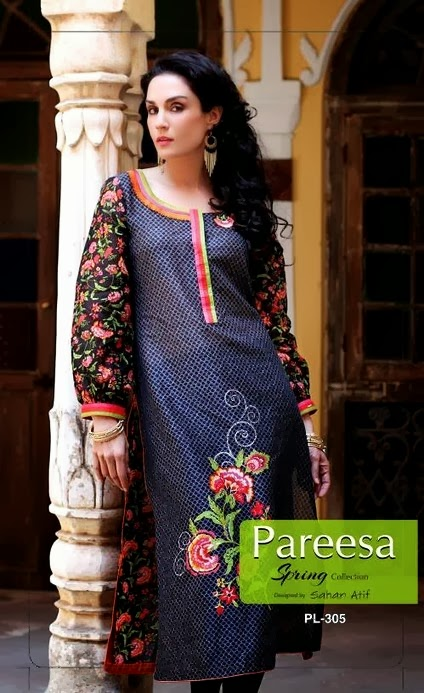 Pareesa Lawn Spring Collection-14