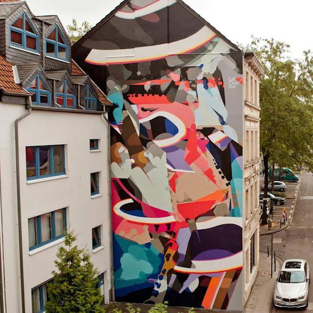 Street Art By SatOne In Cologne, Germany For CityLeaks Urban Art Festival. 1
