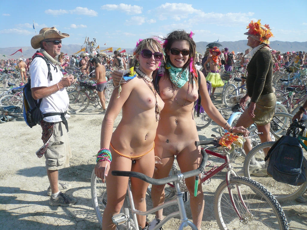 Girls burning man nude