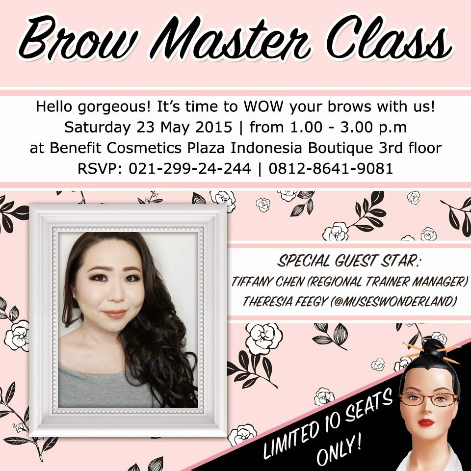 HOSTING FOR BROW MASTER CLASS WITH BENEFIT INDONESIA