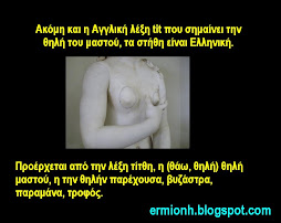 Η Αγγλική λέξη tit(s) είναι Ελληνική.