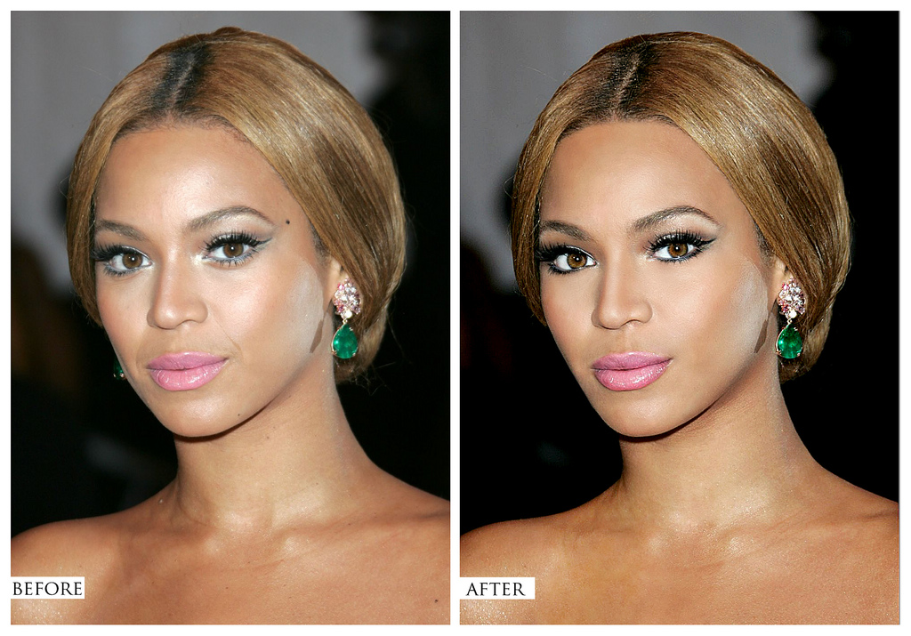 before after celebrities Photoshop
