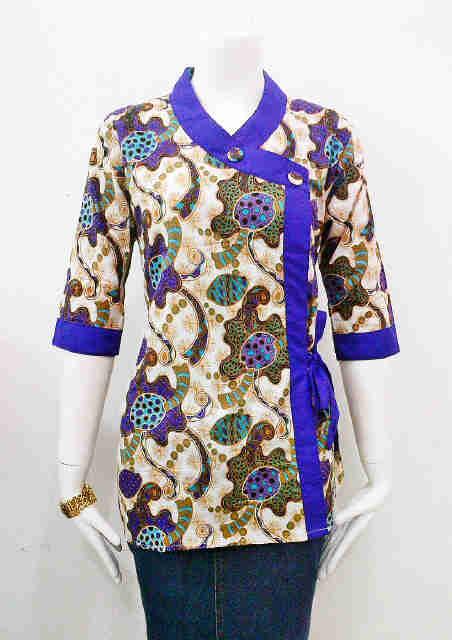 Model Baju Batik Kerja Bank | Model Baju Batik Kantor