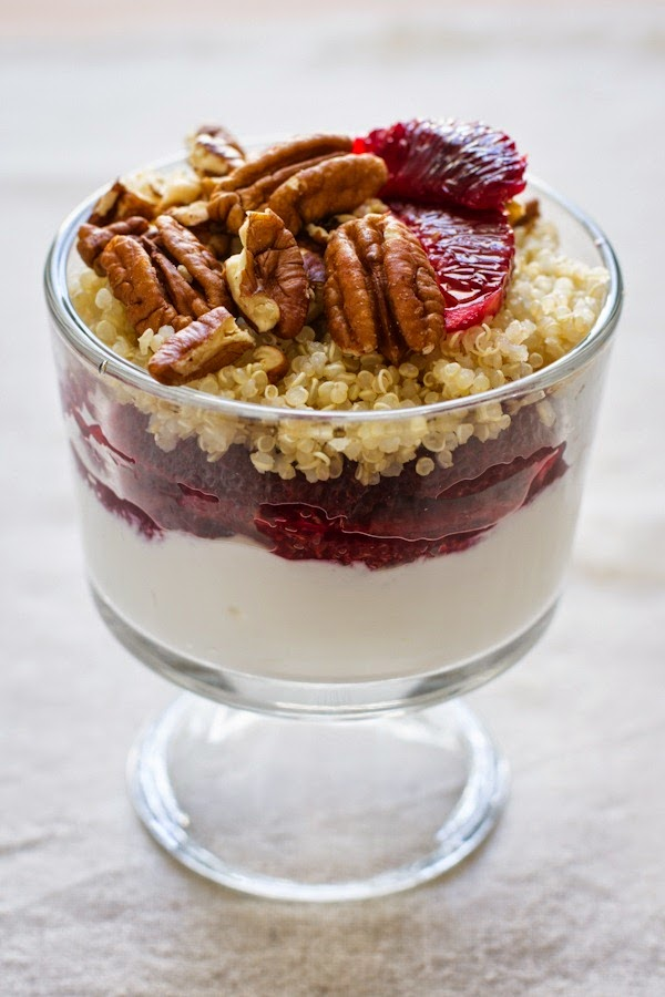 blood orange and quinoa dessert