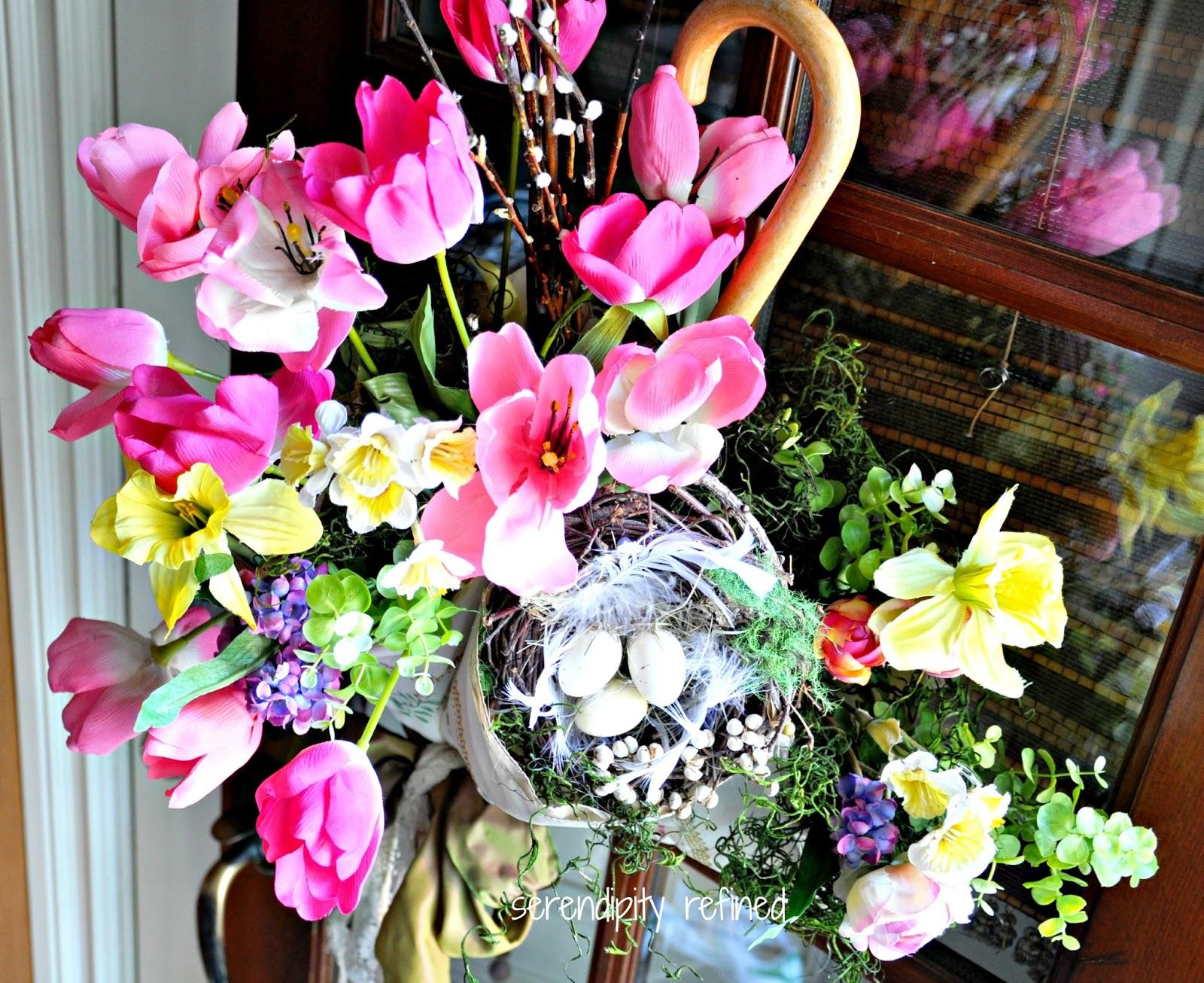 Serendipity Refined Blog Spring Side Door Decor April Showers