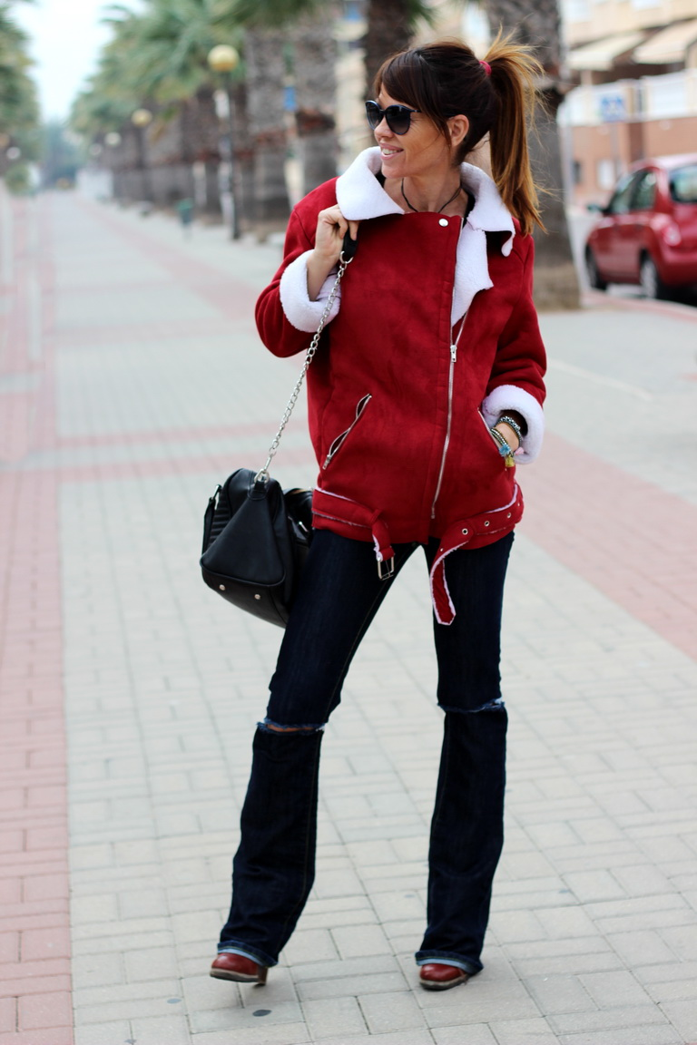 Sheinside, Tendencia Borrego, Fashion blogger, streetstyle , Chanel sunnies, cuchicuchi bisutería