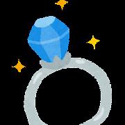 サファイアの指輪のイラスト