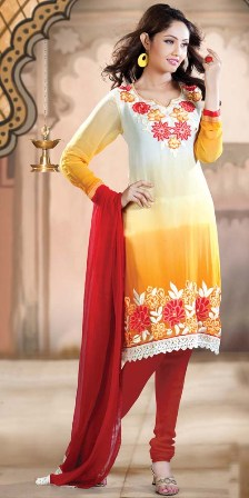 Double-Shaded-Churidar-Salwar-Kameez