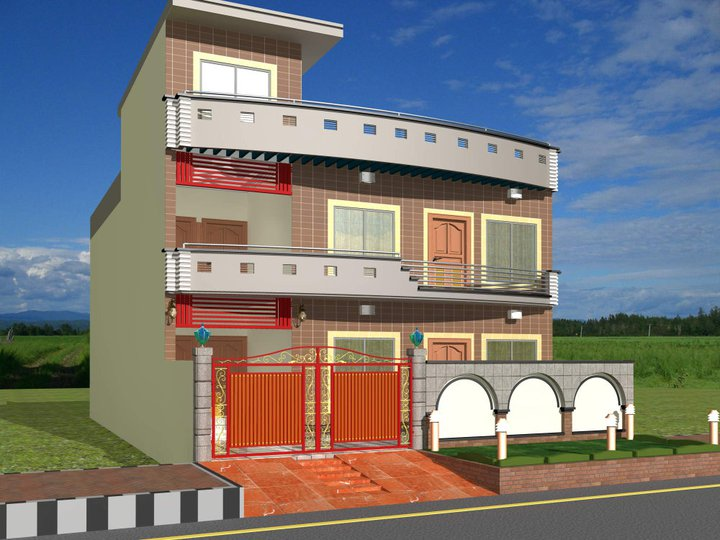 Image gallery home design front view for Modern home front view design