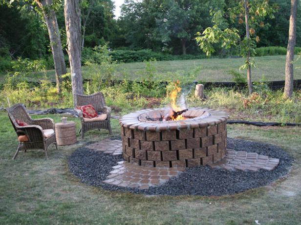 brick outdoor fire pit designs2