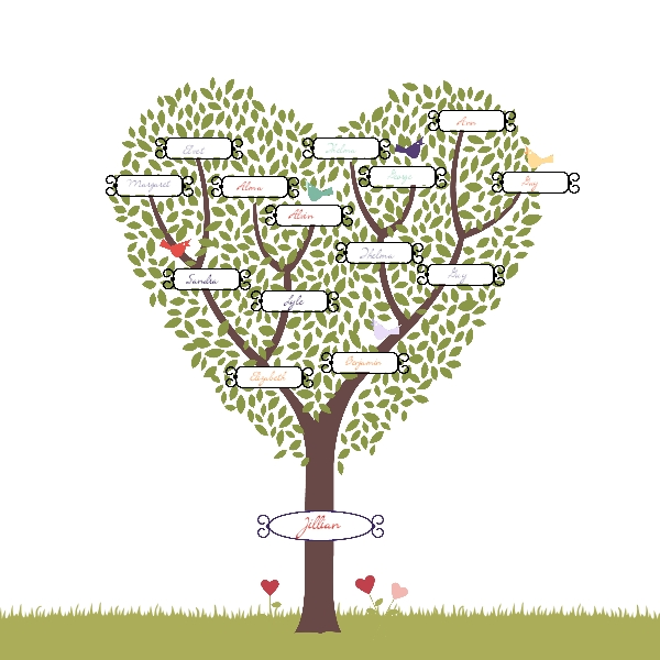 drawing a family tree template