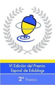 Peonza plateada Premios Edublogs 2012