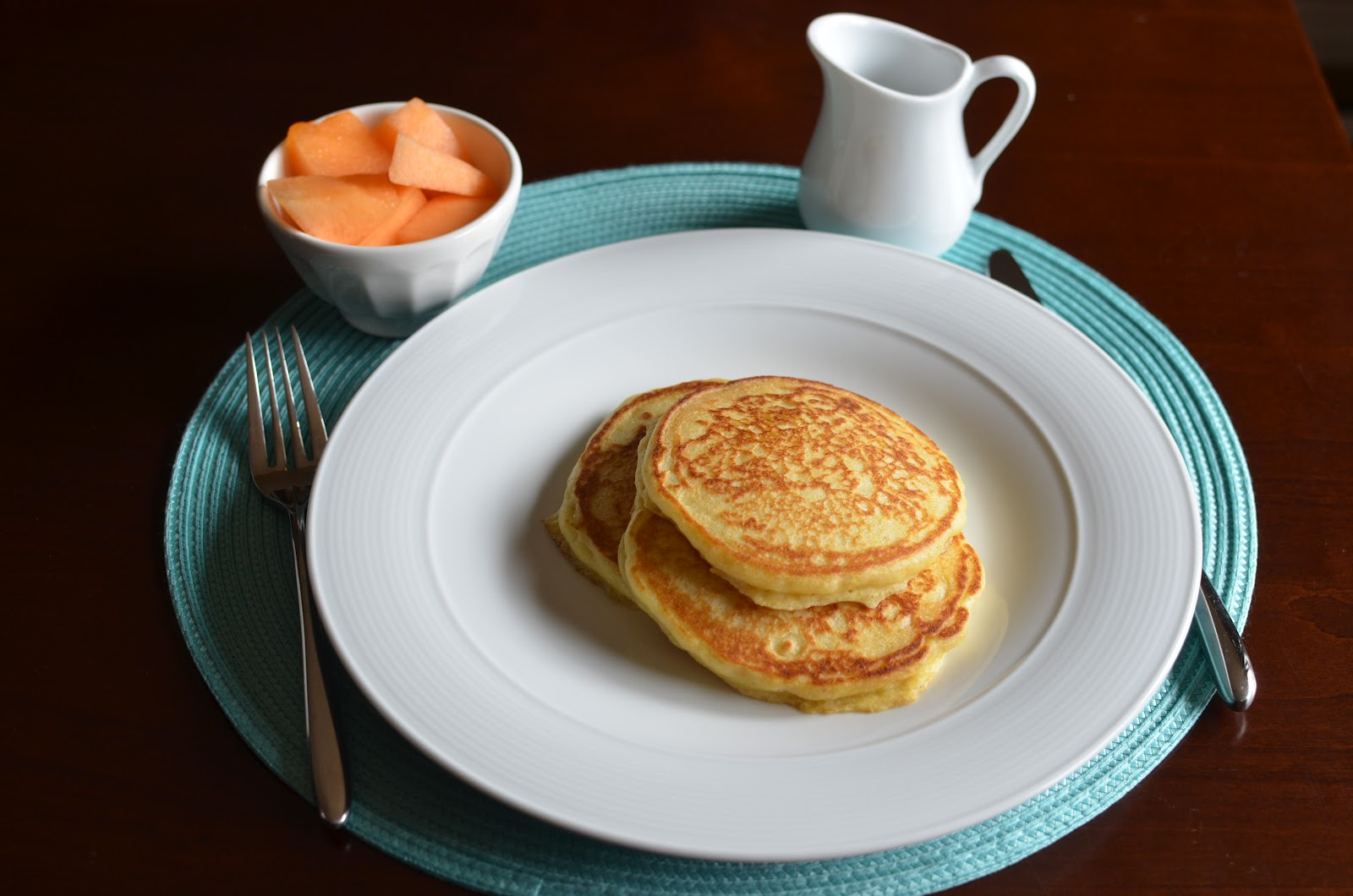 Playing with Flour: Cornmeal griddle cakes (pancakes)