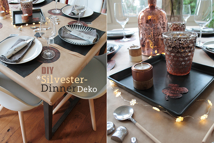 Himbeerblues diy silvester dinner dekoration aus kupfer for Dekoration kupfer