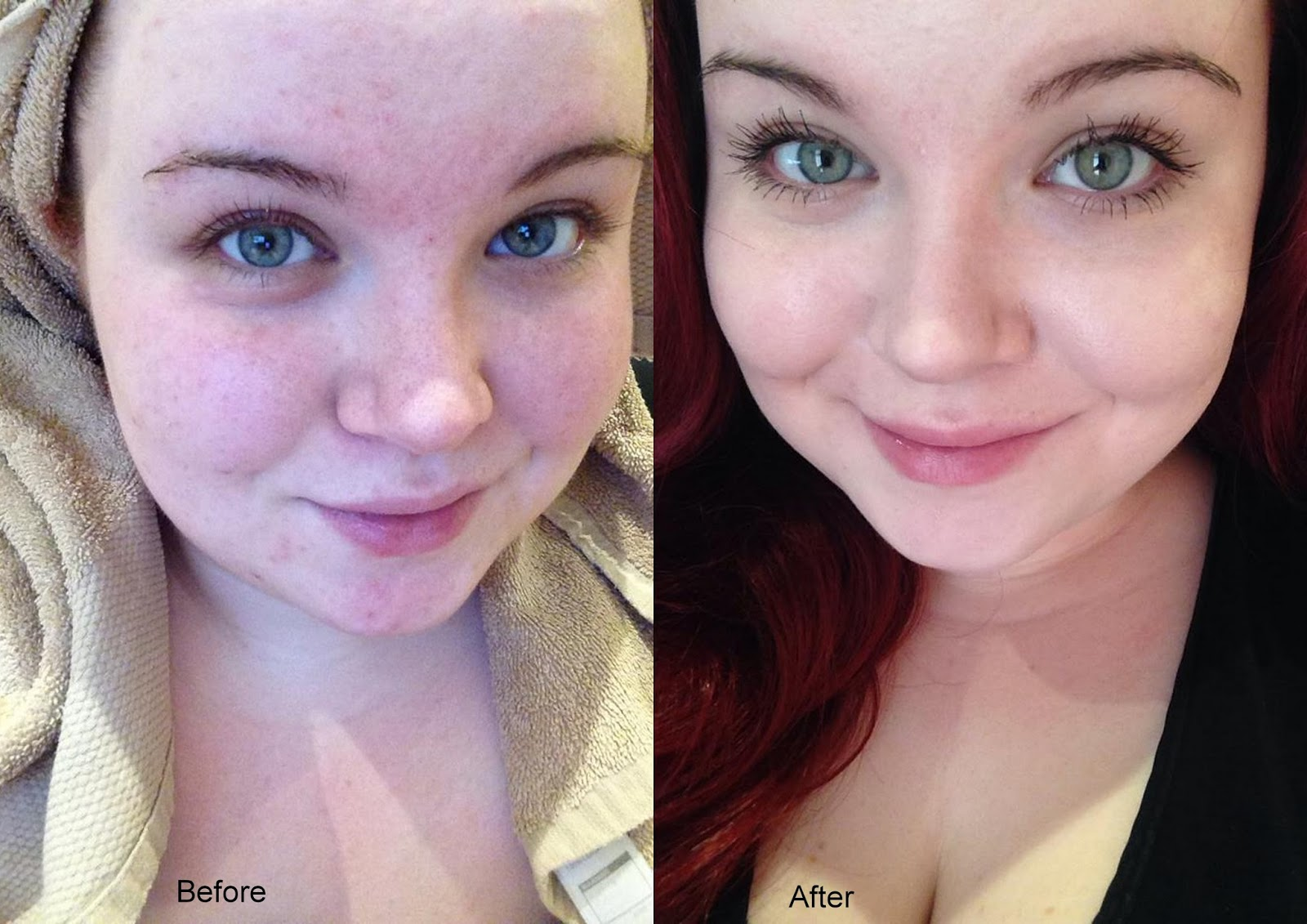 no makeup, before and after, St Ives 7 Days to Beautiful Skin Challenge