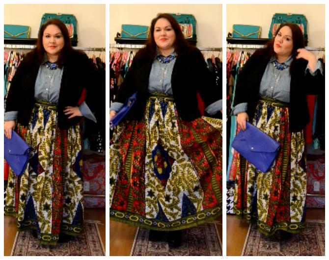 outfit plus size boho chic consigli di stile curvy