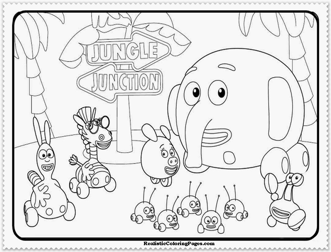 Jungle Junction Coloring Pages