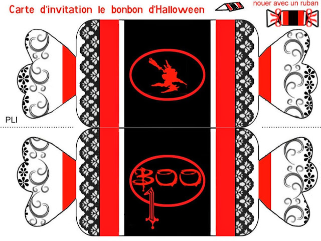 Free Printable Candy Halloween Invitation.