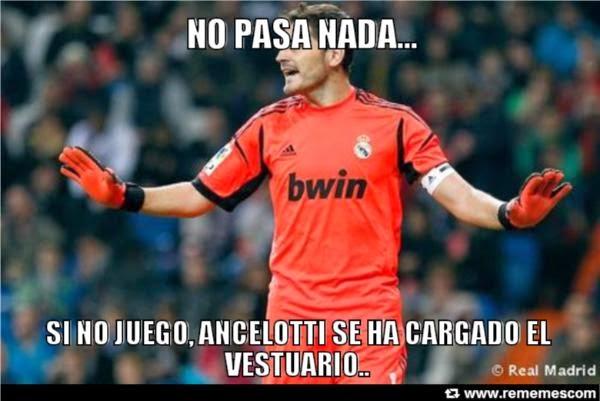 Iker Casillas Final Champions: Real Madrid - Atlético. Humor, cachondeo, bromas, chorradas, whatsapp, chistes, guasa y memes. Fútbol final Champions League 2014, Ramos y Bale.