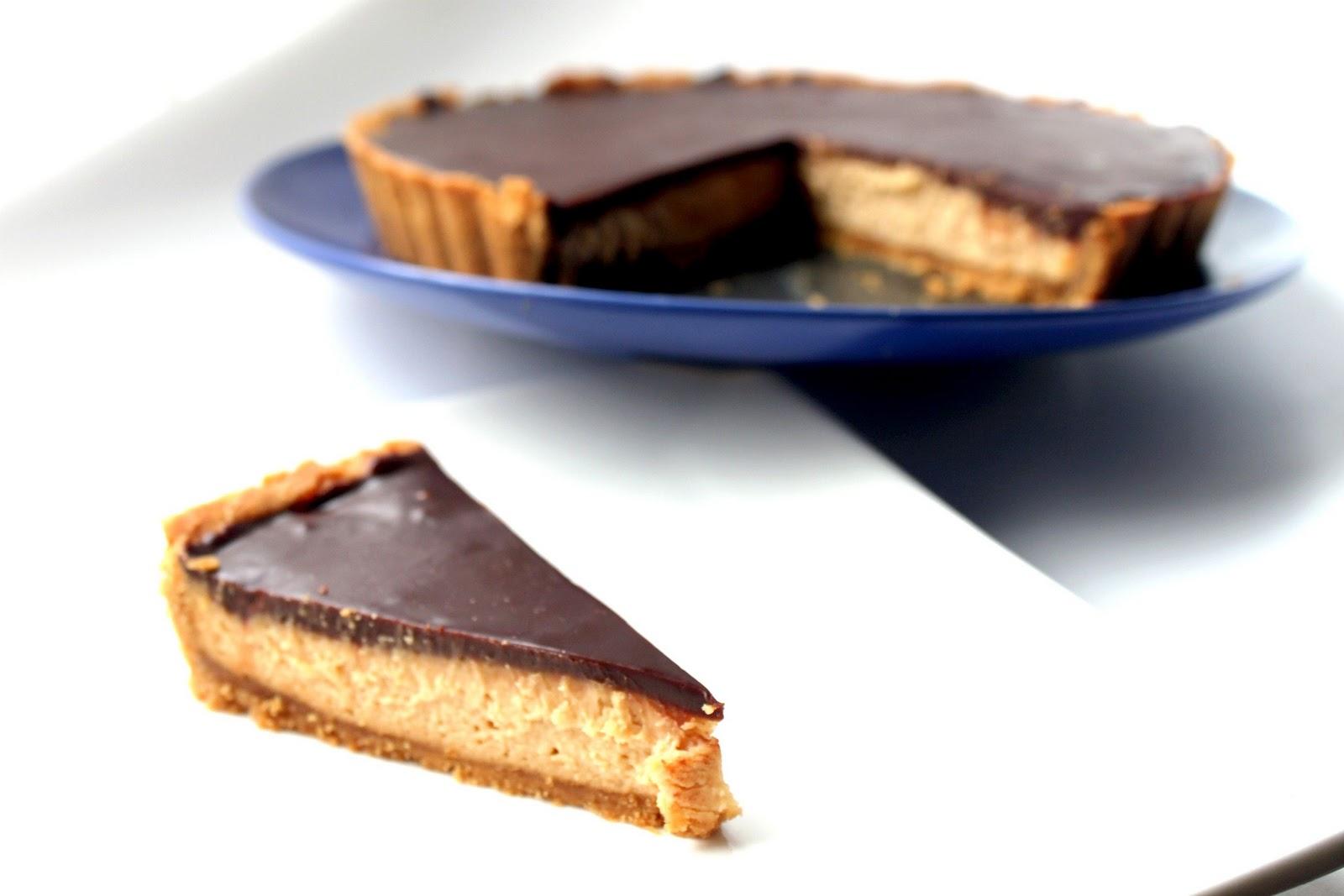 Chocolate-Peanut Butter Tart Recipe — Dishmaps