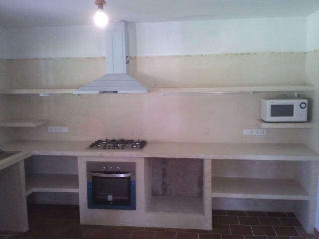 Reformas julio camarena cocina con cemento pulido for Material cocina