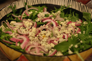 ... to Ruth: Orange and Arugula Salad with Red Onion and Gorgonzola