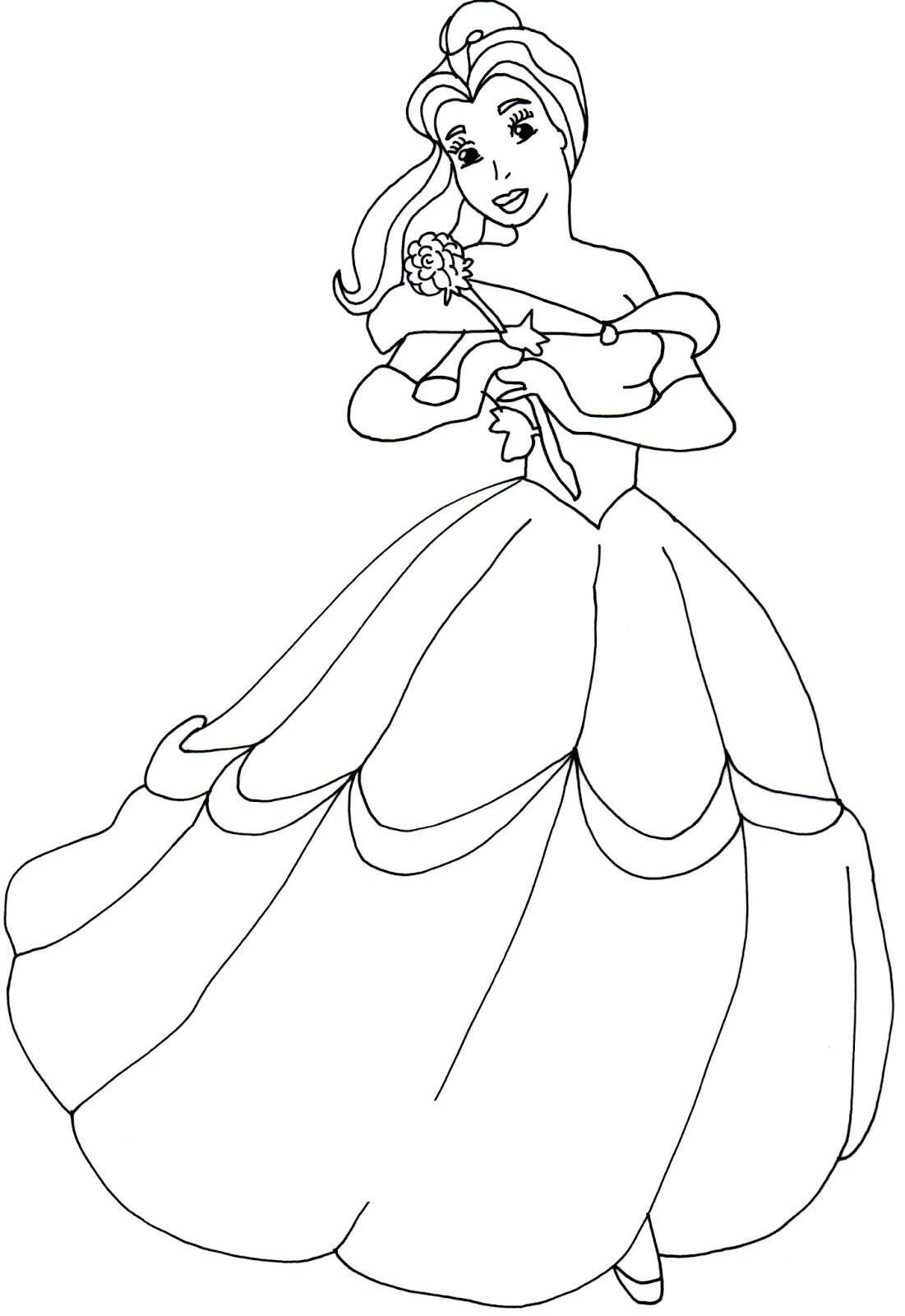 Sofia The First Coloring Pages Princess Belle
