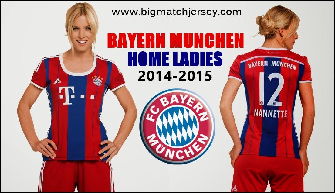 sexy jersey ladies bayern munchen Home official musim 2014-2015 jual baju bola kaos bola kostum bola murah