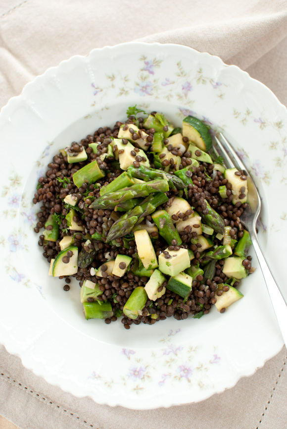 Scandi Home: Spring lentil salad