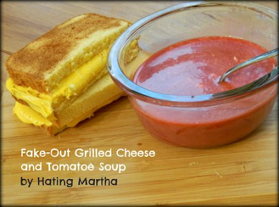 Fake Grilled Cheese and Tomato Soup