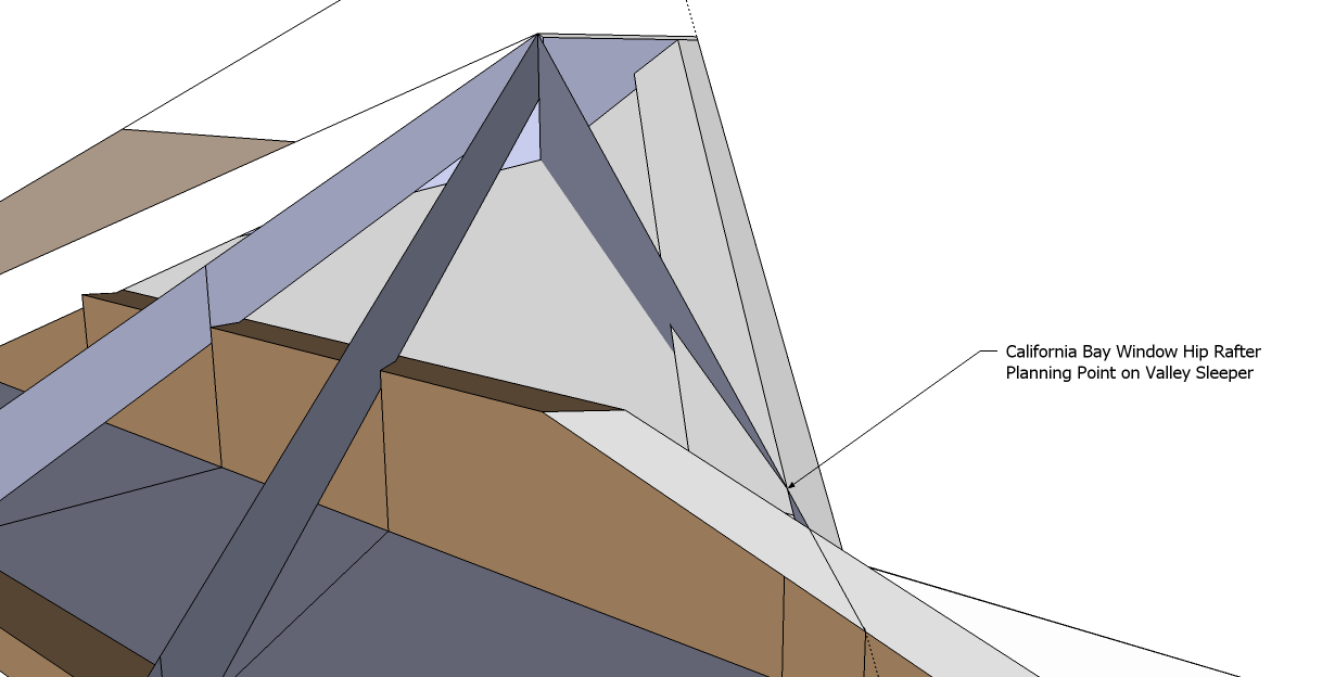 Roof framing geometry hip valley roof framing example 1 for Bay window roof framing