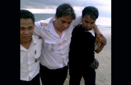 Pilot Lion Air setelah kecelakaan di Bali
