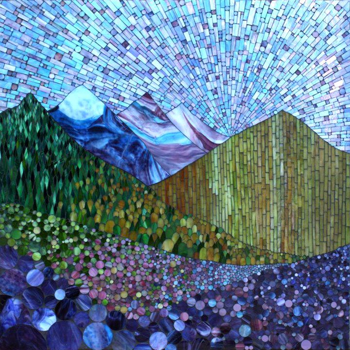 Kasia mosaics my growing landscape series for Mosaic landscape design
