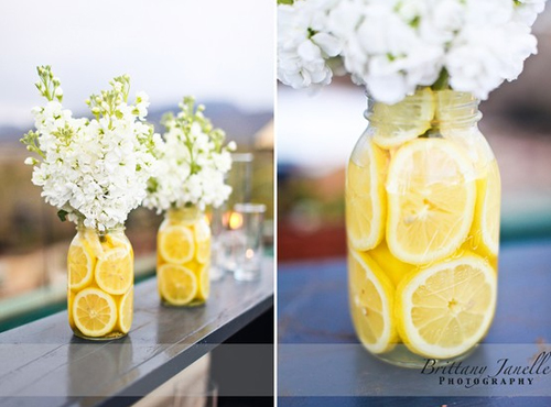 Glitz Bliss: Decoration Ideas: Lemon Vase Centerpiece