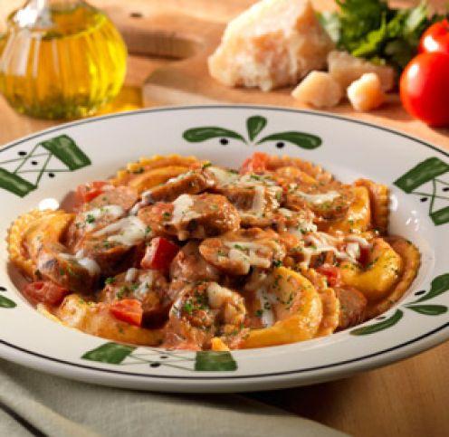 stuffed mezzaluna pastas - Olive Garden Stuffed Mushroom Recipe