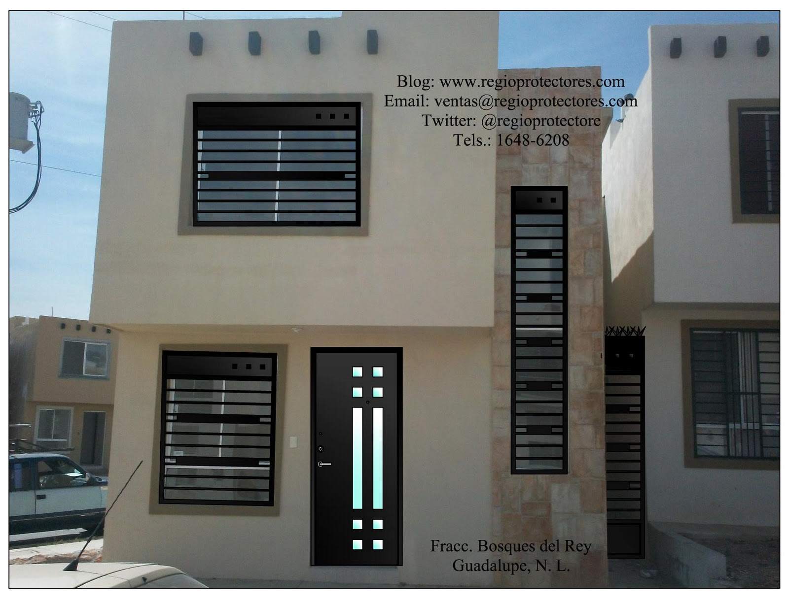 Pin rejas balcon modernas kamistad celebrity pictures - Rejas para puertas ...