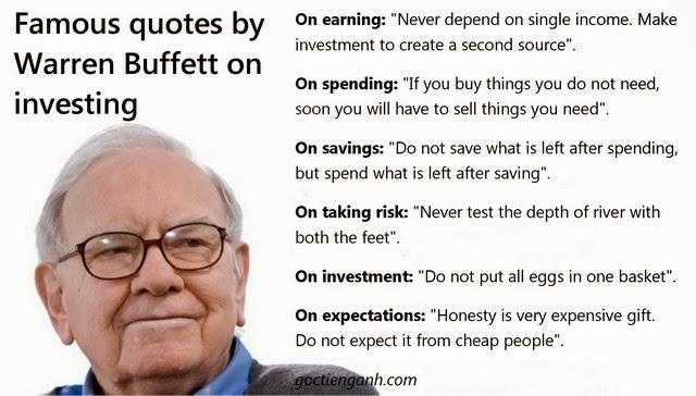 Lời khuyên của Warren Buffett