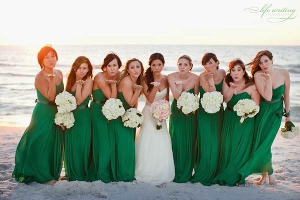Wedding Color Inspiration Emerald Green