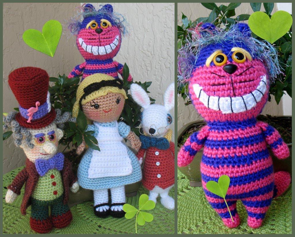 Cheshire Cat Amigurumi Crochet Pattern : Alice in Wonderland - Sayjai Amigurumi Crochet Patterns ...