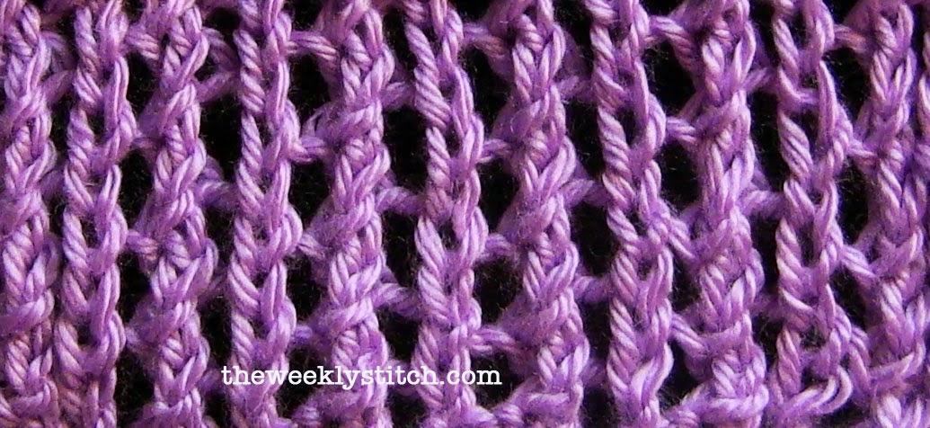 Single Lace Rib The Weekly Stitch