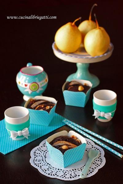 muffin cioccolato pere nocciole