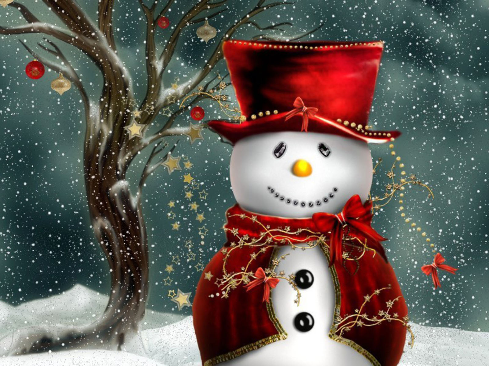 Love Pictures Christmas Snowman Wallpapers